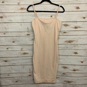 Topshop Nude Bodycon Midi Tank Dress NWT